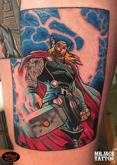 #thor #marvel #tattoo #tattooartist #colortattoo #mrjack #mrjacktattoo #mrjacktattooartist #tatuaggio #bodyart #arte