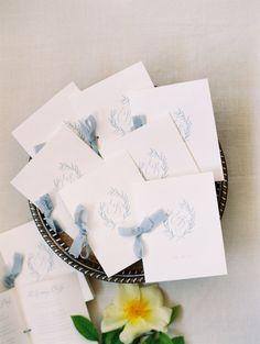 Custom Invitations — Written Word Calligraphy and Design Wedding Reception Tables, Wedding Programs, Wedding Signs, Dusty Blue Weddings, May Weddings, Custom Stationary, Wedding Stationary, Wedding Day Inspiration, Wedding Ideas