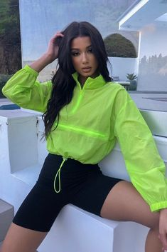 Take your off-duty wardrobe up a level with this Melanie Windbreaker. Featuring a windbreaker material with zipper stitched on the top and elastic cuffs. Mode Outfits, Dance Outfits, Outfits For Teens, Stylish Outfits, Summer Outfits, Girl Outfits, Fashion Outfits, Curvy Women Fashion, Teen Fashion