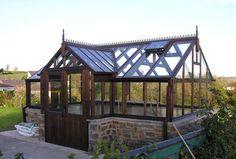 cedar greenhouse | 10ft x 16ft cedar greenhouse with 2ft porch £6650 inc vat