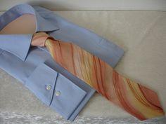 Krawatten - Krawatte Toscana aus Seide mit Seidenmalerei  - ein Designerstück von hofatelier-mode bei DaWanda