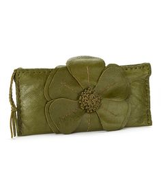 Another great find on #zulily! Olive Natalie Leather Clutch by Adam Alexis #zulilyfinds