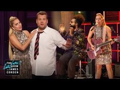 On the day her Carpool Karaoke premieres, Lady Gaga crashes James's monologue before sitting in with Reggie Watts and The Late Late Show band to sing her sin...
