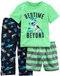 Pijama 3 pzas multicolor a) Baby Boy Pajamas, Toddler Pajamas, Carters Baby Boys, Toddler Boys, Pyjamas, Kids Boys, Toddler Boy Fashion, Toddler Outfits, Baby Boy Outfits