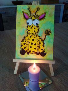 Zum 1. Advent eine kleine Giraffe. Inspiriert von Pinterest. ✏Aquarell Farben, Fineliner und Buntstifte