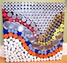 Beautiful! This could actually be a lot of fun.. and a unique inexpensive way to decorate..Now I know what to do with all those caps n covers I've been saving.