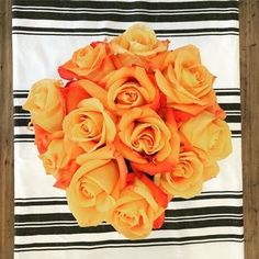 How beautiful are these orange roses?! #mypotterybarn