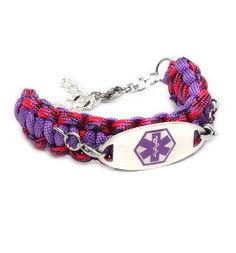Diver Paracord Medical ID Bracelet from Lauren's Hope. #laurenshope #medicalID #laurenshopeID www.laurenshope.com