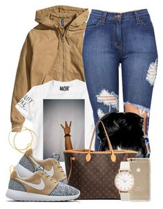 """""""Untitled #512"""" by b-elkstone ❤ liked on Polyvore featuring H&M, NIKE, Louis Vuitton, women's clothing, women's fashion, women, female, woman, misses and juniors"""