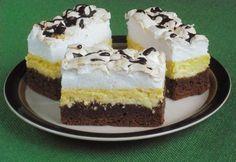 Kanalas habos-túrós sütemény Hungarian Desserts, Hungarian Cake, Hungarian Recipes, My Recipes, Dessert Recipes, Bread Dough Recipe, Cake Bars, Winter Food, Cheesecake