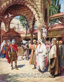 Jesús sana al siervo del centurión de Cafarnaúm