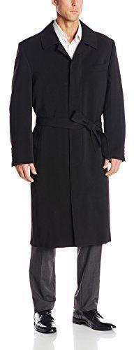 $270, Black Overcoat: Stacy Adams Big Tall Eros Hidden Front Full Length Top Coat. Sold by Amazon.com. Click for more info: https://lookastic.com/men/shop_items/168810/redirect