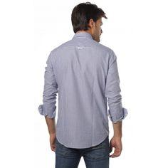Comprar Camisa Valecuatro de cuadros estilo vichy en color azul
