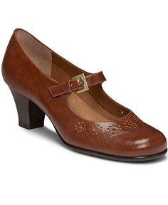 Hush Puppies Burlesque Women's Dress Shoes (8 N In Tan Leather) xEQ4X17