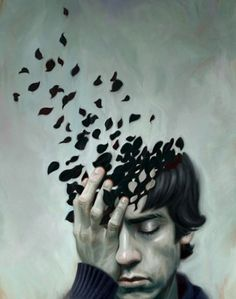 teen depression - Digital Illustrations and Portraits by Robert Carter