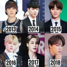 Evolution of Park Jimin! Bts Jimin, Bts Bangtan Boy, Bts Boys, Foto Bts, Bts Photo, Park Ji Min, K Pop, Bts Memes, Seokjin