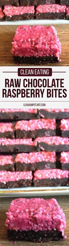 Raw Chocolate Raspberry Bites: healthy and delicious clean eating treat