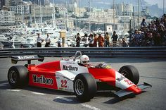 Andrea De Cesaris in the Alfa - thank you for your moments of brilliance & yes the odd incidents !