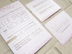 Cherry Blossoms – Wedding Invitations