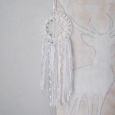pokój dziecka - różne-łapacz snów biały z gwiazdkami