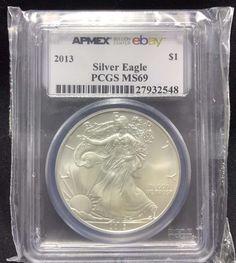 2013 1 oz Silver Eagle APMEX on ebay PCGS MS69 - 1 oz / 1oz. .9999 US