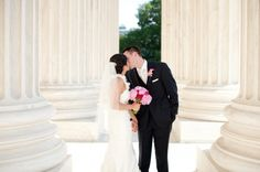 Washington DC Wedding Portraits 550x365 Hot Pink and Modern Washington DC Wedding on Capitol Hill: Natalie + Trace
