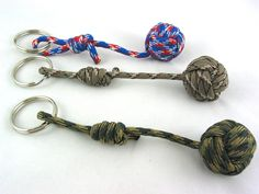 Made to Order Paracord Monkey Fist Keychain. $7.00, via Etsy JazzitupwithDesigns