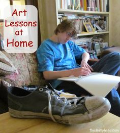 Art Lessons at Home {See The Light #Art Class Volume 1}~ We love art at our house, so even though we have not started our new homeschool year yet, we have started See The Light Art Class! We are loving it!