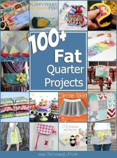 100 plus fat quarter projects. All patterns are free with step by step instructions. Been storing your fat quarters and now looking for ideas on how to use them? More than 100 free sewing patterns and ideas here will get you sewing in no time! The Sewing Easy Sewing Projects, Sewing Projects For Beginners, Sewing Hacks, Sewing Tutorials, Sewing Crafts, Sewing Tips, Sewing Ideas, No Sew Projects, Sewing Basics