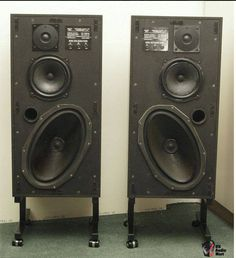 Pair of Monitor Audio - Woofer Speaker, Monitor Speakers, Hifi Audio, Audio Speakers, Loudspeaker, Audio System, Audiophile, Retro, Remote