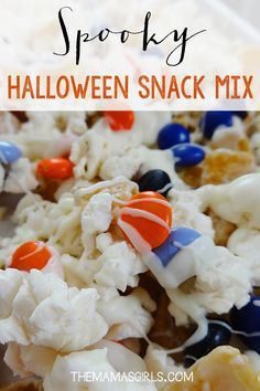 Spooky Halloween Snack Mix - Perfect combo of salty and sweet (and very addicting!)