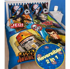 Star Wars Clone Wars Star Wars Rebels Tag Double Duvet Cover and Reversible - 2 designs in 1. 50% cotton, 50% polyester. Machine washable. (Barcode EAN=5055285345471) http://www.comparestoreprices.co.uk//star-wars-clone-wars-star-wars-rebels-tag-double-duvet-cover-and.asp