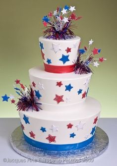 Fourth Of July Themed Wedding Cakes  4th Of July Wedding Archives  Dream Weddings On A Budget