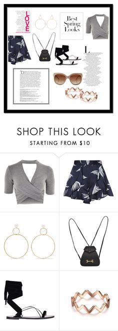 """""""Summer Outing"""" by fashionista-lucky ❤ liked on Polyvore featuring Topshop, C/MEO COLLECTIVE, Natasha Schweitzer, Gucci, Valentino, STELLA McCARTNEY, Balmain and H&M"""