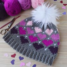 Happy Valentines Day In honor of today I have a new free pattern up on my blogThe Twitterpated Heart Beanie I hope you love it as much as I do Link in biovalentinesday valentinescrafts crochet crochethats love crochetersofinstagram madewithlove madewithjoann deborahnorville premieryarns chaindesigns craftastherapy heartsandcraftssweepstakes