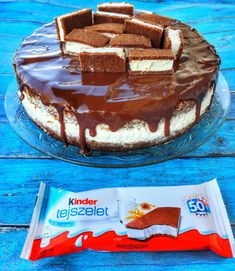 Kinder tejszelet torta – Cake by fari Fitness Cake, Torte Recipe, Hungarian Recipes, Good Foods To Eat, Christmas Desserts, Cake Cookies, Cupcakes, How To Make Cake, Sweet Recipes