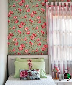 a room in green, pink and white Home Bedroom, Girls Bedroom, Bedroom Decor, Bedrooms, My Room, Girl Room, Senior Home Care, Decoration, Sweet Home