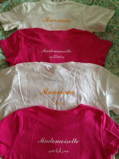 Serie de tee shirt customisés Vive la Cameo