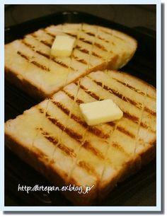 *arte 手ごねパン教室:ストウブグリルパンで♪おいしい食パンの食べ方