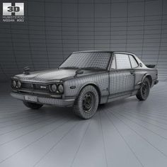 model: The model was created on real car base. Nissan Skyline, The Unit, Models, 3d, Cutaway, Templates, Fashion Models
