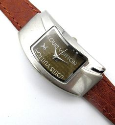 NR VTG Louis Vuitton Quartz Leather Women's Watch Wrist Watches Work Perfect  #louisvuitton
