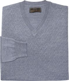 Reserve Collection Herringbone V-Neck Sweater