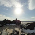 Sandy Hook Beach, Atlantic Highlands, NJ - Winter Landscape