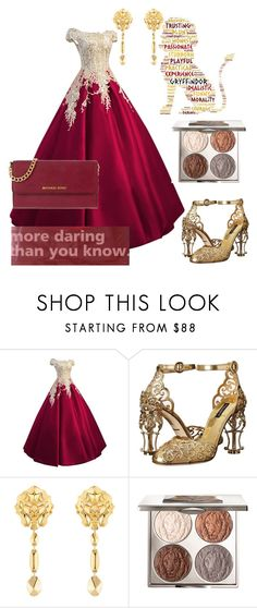 """""""Untitled #417"""" by kathrynrose42 ❤ liked on Polyvore featuring Dolce&Gabbana, Chanel, Chantecaille and MICHAEL Michael Kors"""