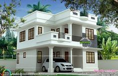 mid century modern home exterior paint colors with two storey house front view with small bungalow house design in philippines 2 Storey House Design, Duplex House Design, Simple House Design, House Front Design, Modern House Design, Duplex House Plans, Modern House Plans, Small House Plans, Simple Home Plans