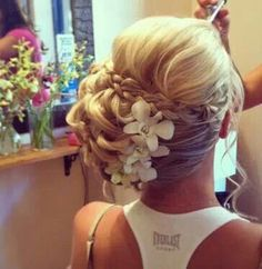 This is exactly how i envisioned your hair, maybe without the flowers