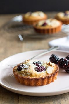 These Almond Blackberry Financiers are rich, moist and delicious! The perfect Mother's Day dessert!