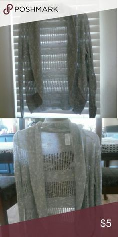 Sweater Gray caged sweater Charlotte Russe Sweaters Crew & Scoop Necks