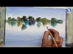 ▶ Wet in wet technique 2 - by Milind Mulick -simple/must do!!