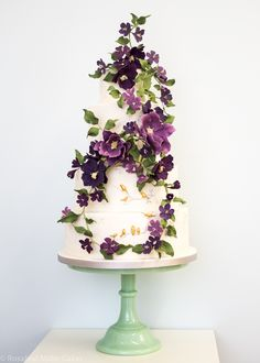 Amethyst Forest Wedding Cake